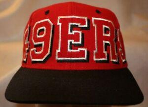 SF 49ERS Football Team Snapback Cap Embroidered Logo Vintage 014