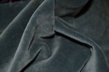 LUXURIOUS ANTIQUE SILK & COTTON VELVET REMNANT~RARE FRENCH BLUE~DOLL CLOTHES