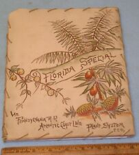 1897 FLORIDA SPECIAL PRR Railroad & Atlantic Coast Line * FL RESORT PROMO BOOK