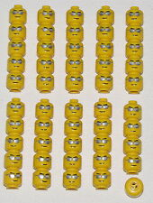 LEGO LOT OF 50 NEW MINIFIGURE HEADS WITH SUNGLASSES BEACH BIKE TOWN CITY PARTS