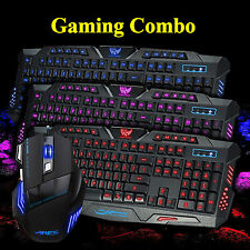 PC Gaming Combo USB Wired Backlit Keyboard and Mouse 3200 DPI Mice Bundles Combo