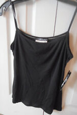 Black Ladies Camisole, Lined, Spaghetti Strap, Medium, New With Tags