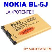BATTERIA BL-5J DA 2450Mah PER NOKIA 5800 5230 5228 X6 N900 POTENZIATA MAGGIORATA