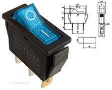 Beleuchteter Wippschalter blau 12V 20A EIN-AUS Schalter Lichtschalter #MK111b
