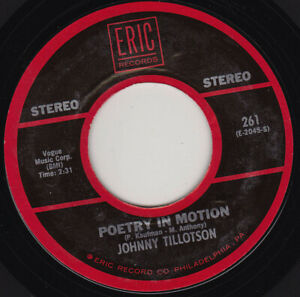 """JOHNNY TILLOTSON - Poetry In Motion 7"""" 45"""
