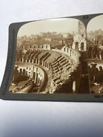 Vintage Palatine Hill From Colosseum Rome Underwood Stereoview Card
