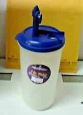 2 Quart Round Plastic Pitcher with Blue Lid & Tab New Never Used
