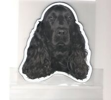 Cocker Spaniel Black 4 inch face magnet for car or anything metal