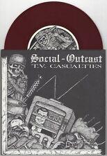 "Social Outcast ""TV Casualties"" 7"" OOP Michigan Hardcore Punk"