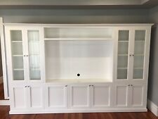 """Hampton 1.0"" Classic Integrated Wall TV Unit Bookshelf Living Room Furniture"