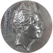 France ALPHONSE MARIE LOUIS DE PRAT LAMARTINE poet bronze 127mm by D'Angers