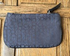 Calvin Klein Purse Black Grey Logo Designer Hobo Holiday Clutch Grab Bag Pretty