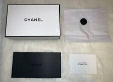 Authentic Chanel Gift Box, Receipt Holder, Tissue Paper, Gift Packaging Set