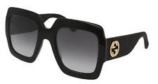 *NEW AUTHENTIC* GUCCI 0102S 001 BLACK FRAME, GREY GRADIENT LENS, SIZE 54mm