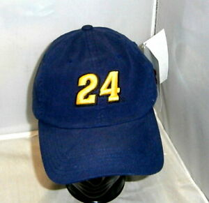VINTAGE CHASE BIG #24 DUPONT JEFF GORDON NAVY SIGNATURE FITTED 2004 PIT HAT NWT