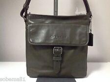 Coach Sport Field Olive Green Leather Crossbody Bag F71487