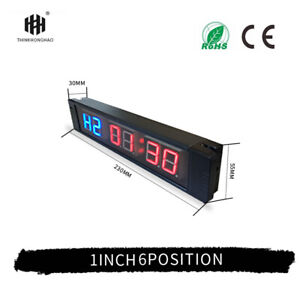 THINKHONGHAO 6 Digit Large Gym Sports Stopwatch Remote Control Timer Clock