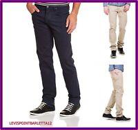 lee powell Pantaloni slim elasticizzati vita bassa cotone estivi beige blu jeans