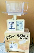 Vintage 1984 WEIGHT WATCHERS Weights & Measures Kit Food Scale