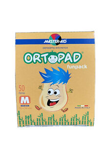 Ortopad Fun Pack Eye Patches-50 Stick On Patches (Latex Free)Size Medium 2-4yrs