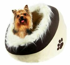 PET IGLOO BED WARM WINTER SMALL DOG CAT HOUSE SLEEPING FLUFFY CAVE NEW