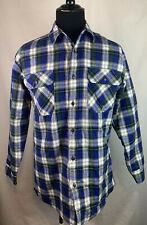 WOOLRICH Quilted Insulated Lined Plaid Flannel Shirt Mens Size Medium