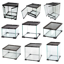 Reptile Glass Stackable Terrariums Vivariums Nano Habitats - Multiple Sizes