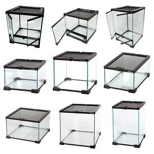 Reptile Glass Stackable Terrariums Vivariums Nano Habitats - Multiple Sizes