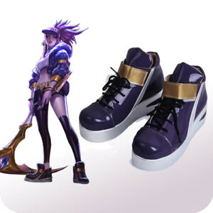 LOL KDA Akali High Heel Shoes Cosplay Shoes Cos Props Unisex