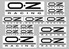 OZ Racing calcomanías con claro fondo 13 Pegatinas De Calidad Impreso Y Laminado