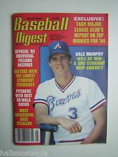 March, 1984 Baseball Digest with Atlanta Braves Dale Murphy Cover