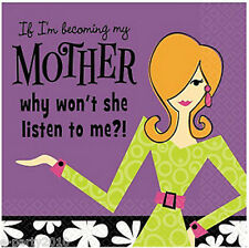 BECOMING MY MOTHER SMALL NAPKINS (16ct) ~ Adult HUMOROUS Birthday Party Supplies