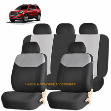 GRAY ELEGANT AIRBAG COMPATIBLE SEAT COVER SET for GMC ACADIA ENVOY