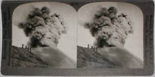 Keystone Stereoview of an Active Volcano, JAVA, D. E. I. from the 1920's 400 Set
