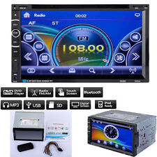"7"" Double 2Din Car HD Bluetooth CD DVD MP3 Player USB/SD FM/AM Radio Touchscreen"