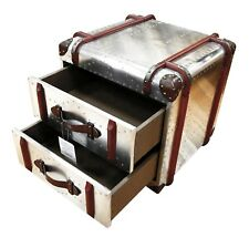 Antique Style Metal Trunk made with aviation grade aluminium and steel