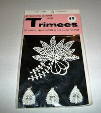 VINTAGE TRIMEES INC #1409 FASHION TRIM FOR SEWING SEALED