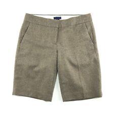 J. Crew Women's Brown Wool City Fit Bermuda  Shorts Size 4
