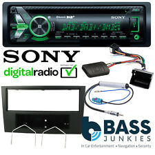 Vauxhall Astra H Sony DAB CD AUX & Bluetooth SWC Car Stereo & BLACK Refurb Kit