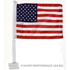 "USA Car Window Flag - American Patriotic 11""x14"" -Highest Quality on the Market!"