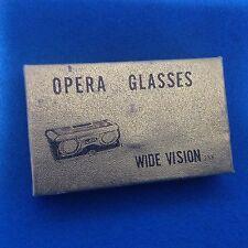 Vintage Opera Glasses Wide Vision Crystar Lens 2.5X in Original Box Red