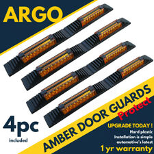 4 X AMBER REFLECTIVE DOOR GUARDS EDGE PROTECTORS SAFETY PROTECTION STRIP EDGING