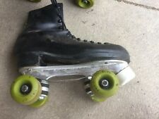 Vintage Dominion Esprit Black Roller Skates With Wrench