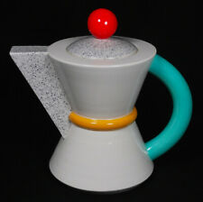 RARE Vintage Michael Duvall Signed 1980's Postmodern Memphis Style Art Teapot