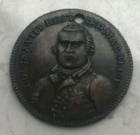 Louis XVIII Restored 1814 French Jeton Token