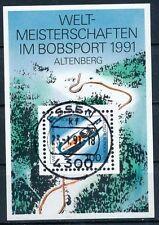 Block 23  gestempelt in Essen  Bobsport Bund 1991