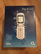 NEC E101 Mobile Phone Brand New Boxed Sealed * Flip Phone O2 Stylish Easy To Use