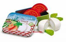 ERZI Tomate Mozzarella Basilikum aus Holz in der Dose  Mozarella zum Schneiden