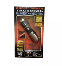 Pro-4 Power Tactical Flashlight with Multi-Tool 9 Tools in 1 Flashlight