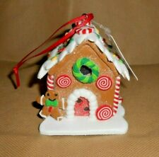 Raz Imports Gingerbread Candy House Lighted Christmas Tree Ornament New with Tag